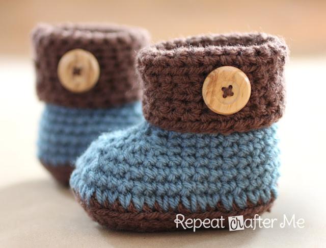 Botitas para bebé en crochet patrón - Telares & Manualidades