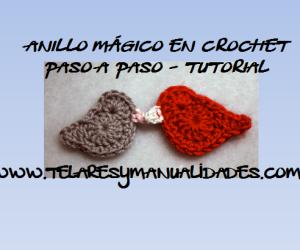 anillo mágico en crochet