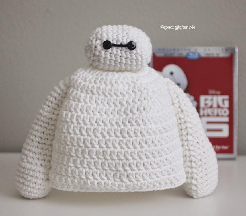 Gorro en Crochet: Baymax de Grandes Héroes - Telares & Manualidades