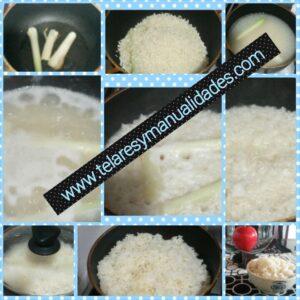 arroz blanco colombiano www.Telaresymanualidades.com