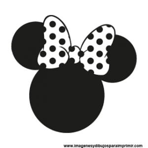 SILUETA MINNIE MOUSE