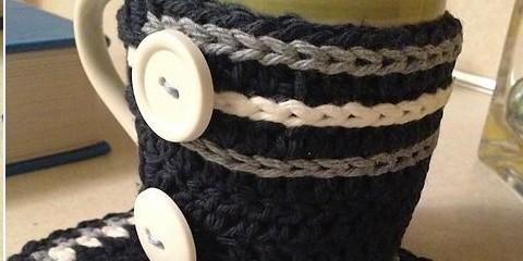crochet porta mug