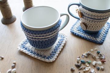 porta mug y posavaso tejer en crochet
