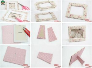 PORTARRETRATOS DIY -Fabric-Picture-Frame