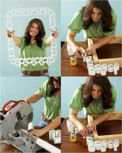 PORTARRETRATOS DIY -PVC-pipe-crafts