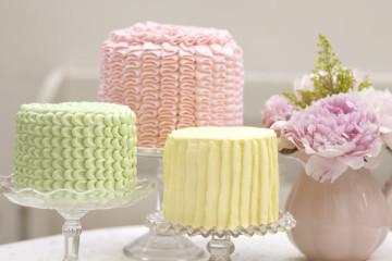 Tortas cubiertas con Buttercream de Vainilla