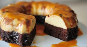 pastel imposible chocoflan