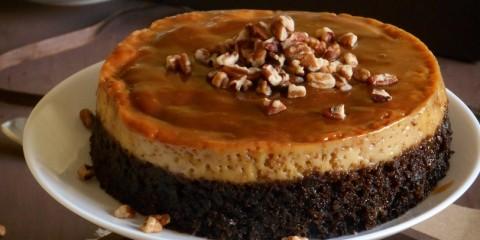 pastel imposible chocoflan