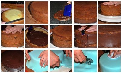 tutorial fondant mosaico tarta margaritas
