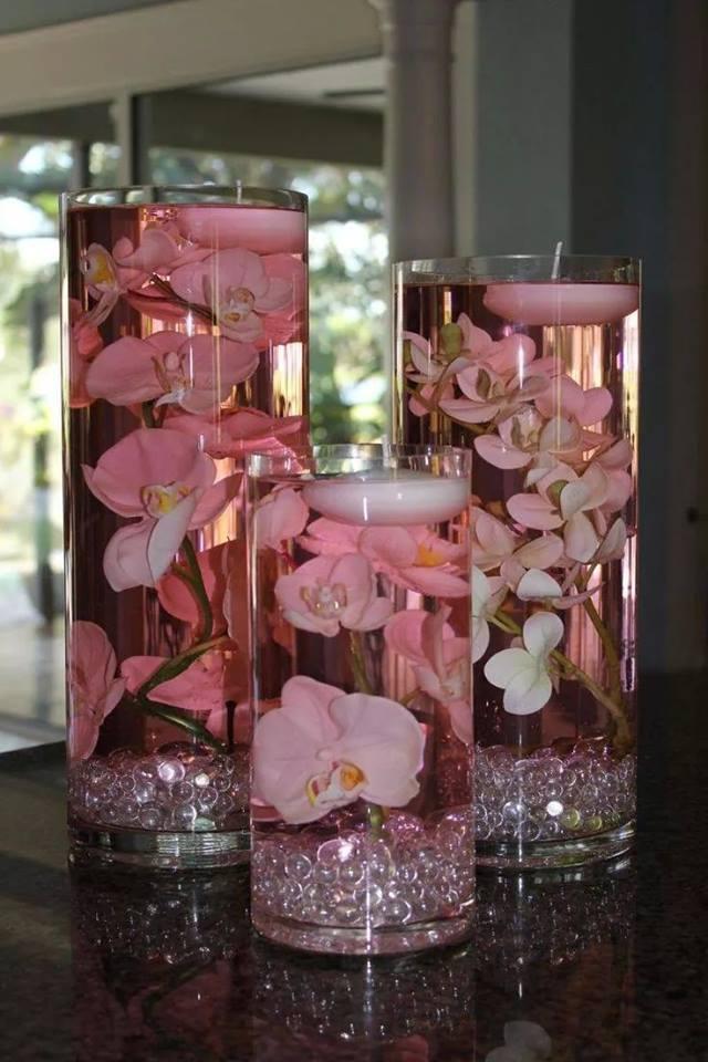 Centro de mesa con velas tutorial y 12 ideas telares - Como hacer velas flotantes ...