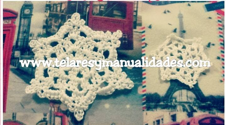 Copo de nieve o snowflake crochet