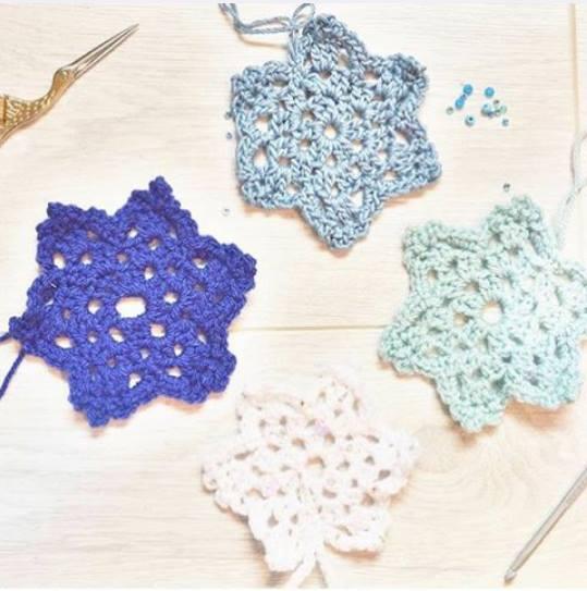 Patrón: Copo de nieve o Snowflake Crochet - Telares & Manualidades