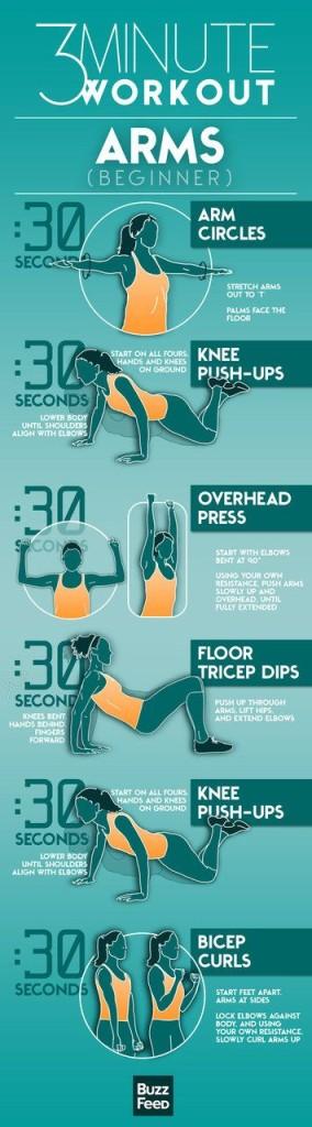 ejercicios brazos mujer en 3 minutos