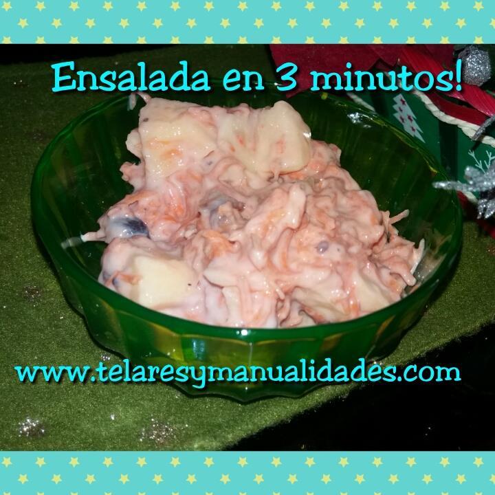 ensalada en 3 minutos