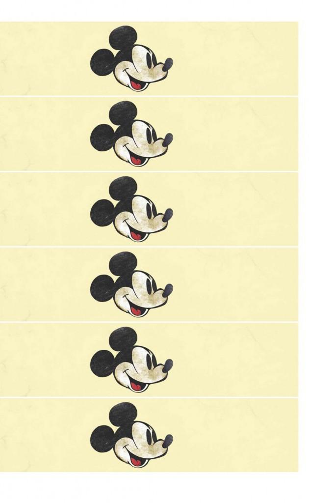 Cintas Imprimibles Mickey Mouse Vintage