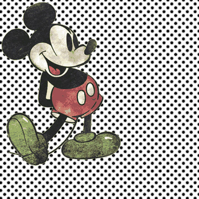 paper_white with black polka dots WITH MICKEY VINTAGE
