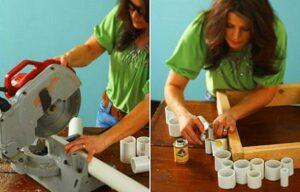 marco reciclando tubos pvc