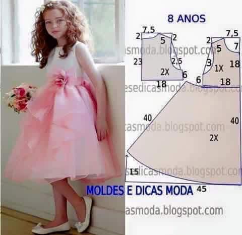 82c11094d Costura  21 patrones de vestidos para niña - Telares   Manualidades