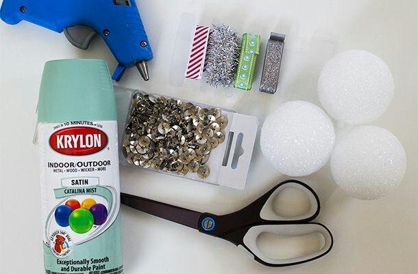 materiales para decoración de bolas navideñas tutorial 1