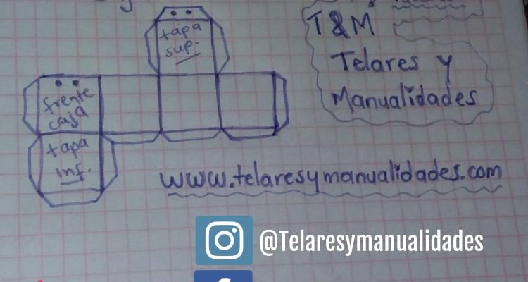 Fácil caja de cartón - esquema www.telaresymanualidades.com