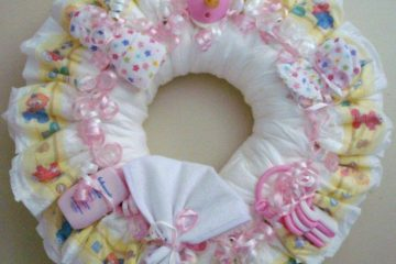 DIY corona para baby shower
