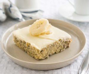 facil torta de banano con mascarpone