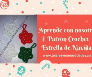 Patrón Crochet ESTRELLA NAVIDAD